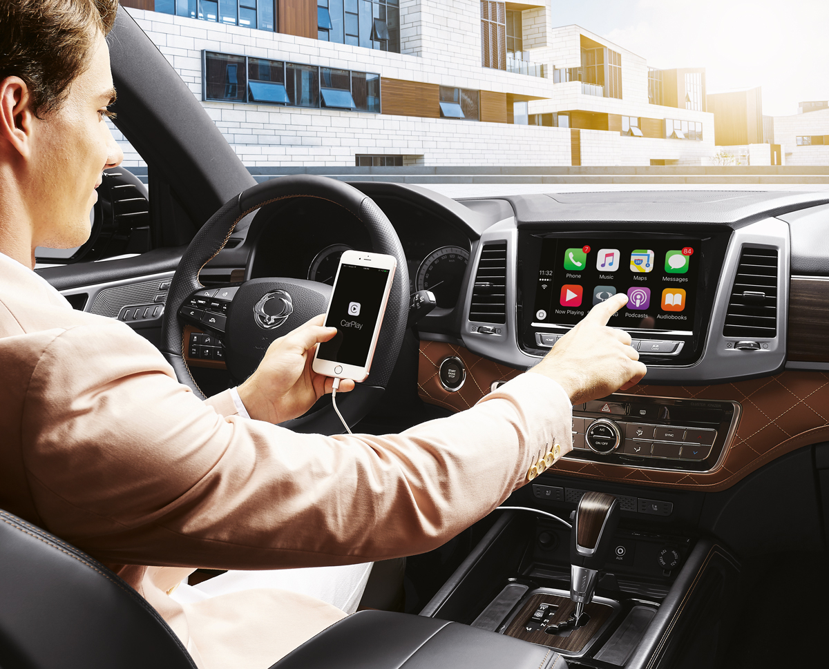 SsangYong Rexton - Apple Carplay